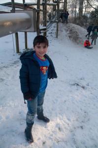 Ilyas im Schnee